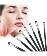 7 pcs Natural Hair Make Up Brushes Soft Eye Professional Cosmetic Brushe... - $3.84