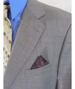 BROOKS BROTHERS Mens 44R/44 R SUPER 120s WOOL Gray WINDOWPANE Suit Jacke... - $64.65
