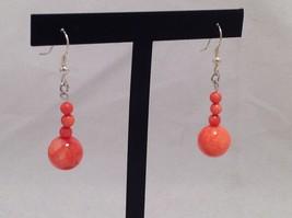 NEW Handmade Gorgeous Orange Teardrop Earrings  image 2