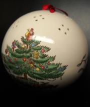 Spode Hanging Pomander Christmas Ornament English Cream Color Red Ribbon... - $6.99