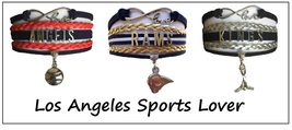LOS ANGELES Sports Bracelet 3 Pack Gift Special - Angels, Kings AND Rams! - $25.99