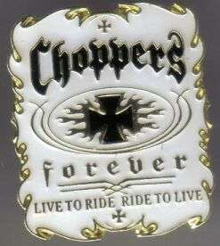 12 Pins - CHOPPERS FOREVER chopper motorcycle pin #4930