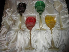 Faberge Xenia Goblet  Glasses set of 4 - $895.00