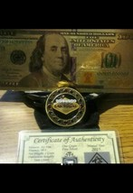 New Style $100 Banknote Rep*+Las Vegas~Gold Clad Lucky Card Gaurd Coin/Chip&MORE - $15.60