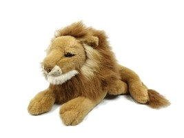 "Fiesta Big Cat Plush Lying Lion Stuffed Animal 18"" Brown Tan King of the... - $32.61"