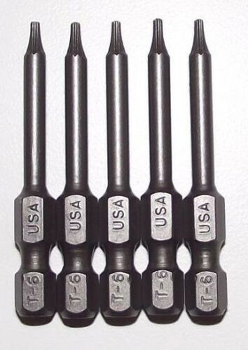 "Primary image for Bosch  341751  T6 x 1-15/16"" Insert Bits Screw Tips 5pcs.USA"