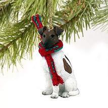 Fox Terrier Miniature Dog Ornament - Brownn & White - $10.99