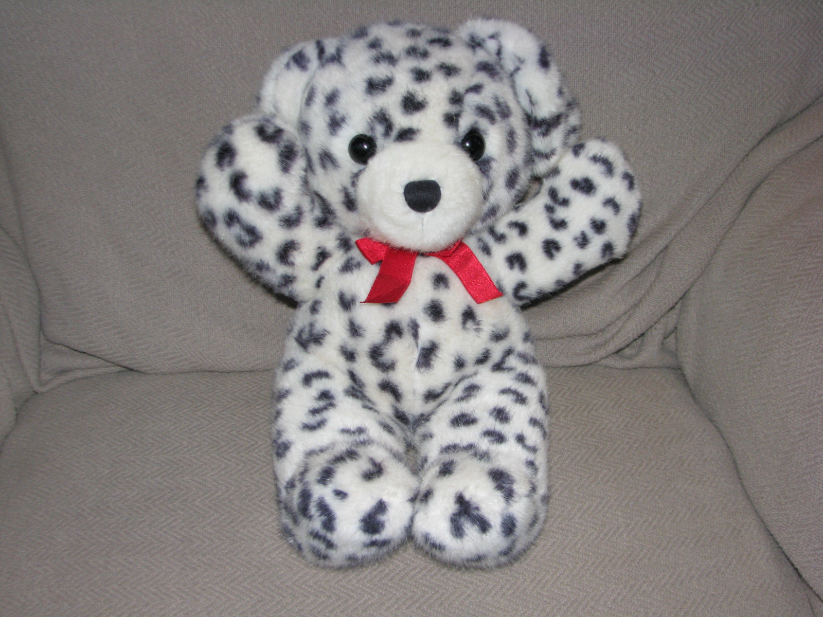 Primary image for DAKIN STUFFED PLUSH 1989 CUDDLES TEDDY BEAR PUPPY DOG DALMATIAN LEOPARD SPOTS