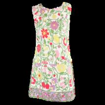 White green floral cotton LUIGI OF NAPLES sleeveless jumpsuit skort dress M - $49.99