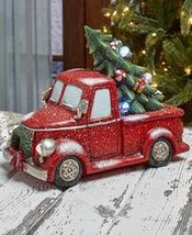 Vintage Lighted Holiday Red Pick Up Truck - $26.23