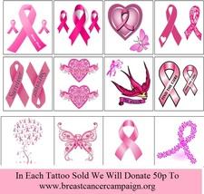 Breast Cancer Awareness Temporary Tattoos  - $11.00