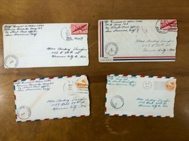 WWII Lot of 4 Letters Platoon Sergeant Marines Mail 1944 Cover Europe Vtg - $48.50