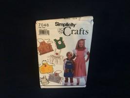 Simplicity Crafts 7048 children's apron pattern applique patterns Santa ... - $2.92
