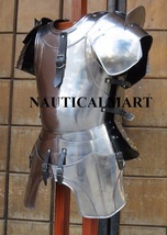 Medieval knight body armour breastplate with shoulder guard - $299.00