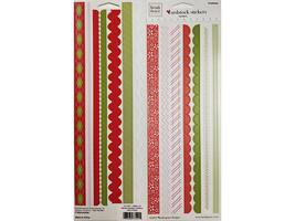 "Heidi Grace Christmas Cardstock Border Sticker Set ""Jolly & Bright"" #12-73121"