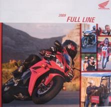 2009 Honda Full Line Motorcycle Brochure  Cruisers Touring Dual Sport Off Road - $11.35
