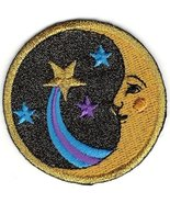 """1 Pc of 2"""" Celestial Man in the Moon Face Shooting Star Comet Embroidery... - $8.02"""
