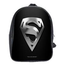 Backpack School Bag Superman Logo Man Of Steel Superheroes Movie Dark Animation  - $33.00