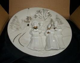Mikasa Porcelain Winter Holiday 3D Design Decorative Wall Dish - $6.93