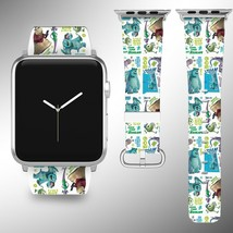 Monsters Inc Disney Apple Watch Band 38 40 42 44 mm Fabric Leather Strap 02 - $24.97