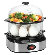 FLYZOE Food Steamer, Double Tier Electric Multi Function Egg Cooker With... - €45,22 EUR