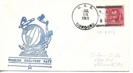 CONCORD (CL-10) 23 July 1940 Type 3 (A-TBT) Worlds Greatest Navy Cachet - $3.47