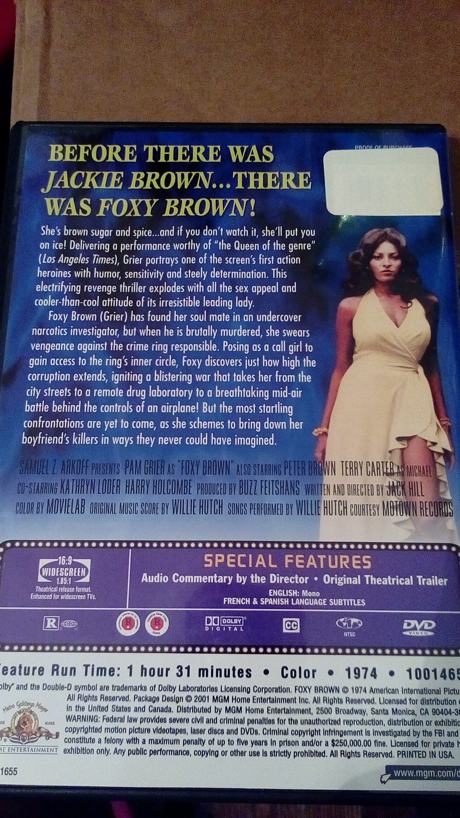 Foxy Brown with Pam Grier Dvd ras1188