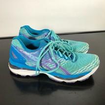 ASICS Gel-Nimbus 18,  Women Size 9.5  Running Shoes Aqua/Purple/Blue. Go... - $22.77
