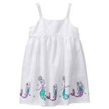 NWT Gymboree Jump Into Summer Mermaid White Sleeveless Girls Dress 2T 3T... - $12.99