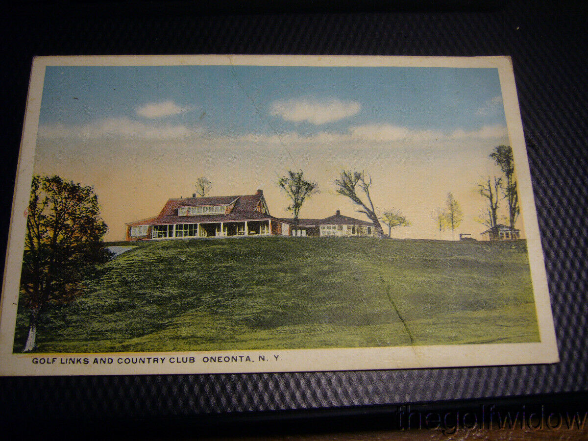 Vintage Golf Postcard Oneonta Country Club NY