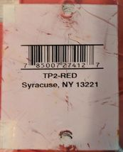 Pass And Seymour TP2-RED 2 Gang Red Nylon Toggle Switch WallPlate image 3