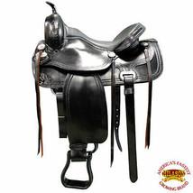 15 16 17 18 in Western Horse Treeless Saddle American Leather Trail U-BZBK - $479.95