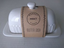 Ceramic Butter Dish With Lid Stoneware Keeper Market Finds - $17.50
