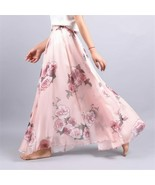 New Elegant Summer Women Retro Beach Skirt Large Umbrella Bohemian Skirt - $14.99