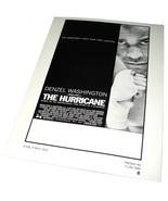 1999 THE HURRICANE Movie 8.5x11 AD SLICK Denzel Washington Advertising P... - $9.99