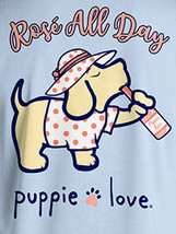 Puppie Love Rescue Dog Adult Unisex Short Sleeve Cotton Tee,Rose All Day Pup image 2