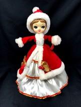 "Vintage Bradley 1960's Big Eyes Mod GLAM Doll 14""H Christmas Musical Spi... - $40.49"