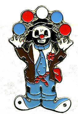 12 Pins - CLOWN JUGGLING circus juggler lapel pin #212