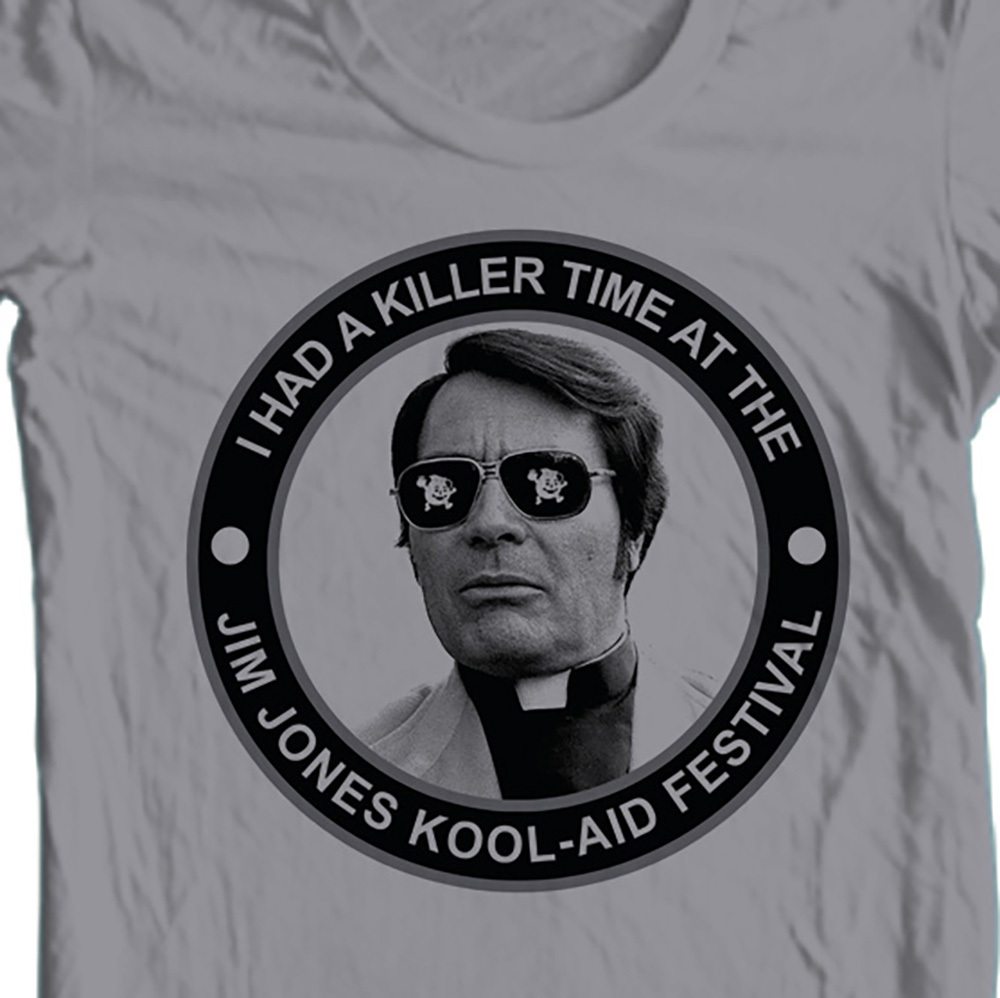 Jim jones kool aid gray t shirt