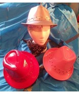 Gangstar/CosPlay/Top hat/Trilby all *NEW*Fancy Dress-Pink/red/silver wit... - $13.01