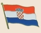 12 Pins - CROATIA , flag hat lapel badge pin sp202
