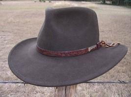 NEW Indiana Jones AUTHENTIC ALLIGATOR Print Rain Proof Crushable Wool Fe... - $61.95+