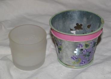 PartyLite Lilac Flower Pot Votive Holder Party Lite
