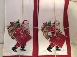 Pottery Barn Santa Claus Napkins Set of Eight (... - $58.00