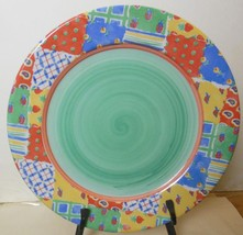 """R B Bernarda Dinner Plate Green Center Patchwork Quilt Pattern 10.5"""" - $19.00"""