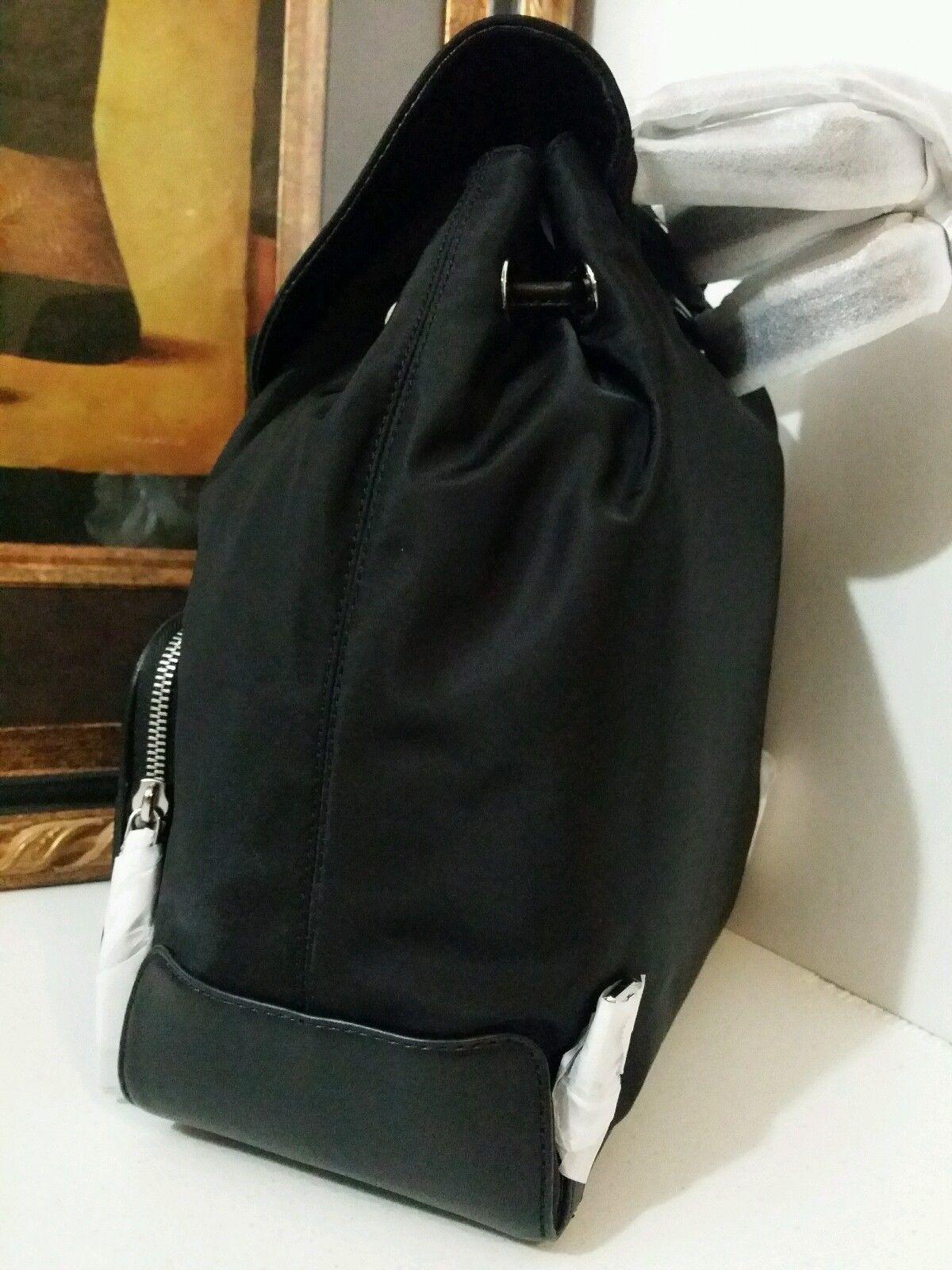 NWT MICHAEL MICHAEL KORS Cara Large 2 Pocket Nylon Backpack Black MSRP $348