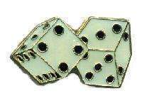12 Pins - DICE , hat tac lapel pin #4746