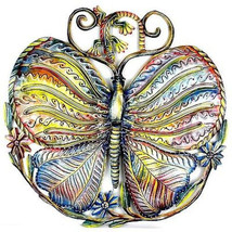 24-Inch Painted Butterfly and Gecko Metal Wall ... - $96.85 - $96.85