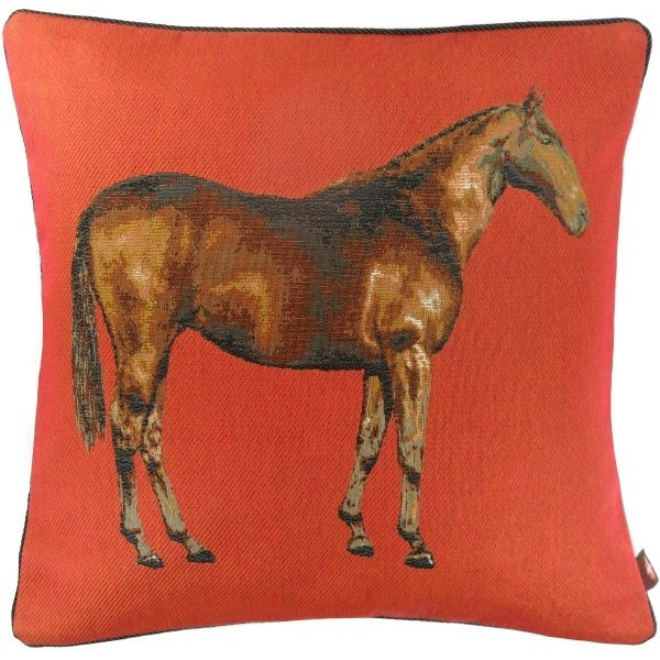 Horse Red 1 European Cushion Cover