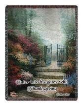 Garden of Promise w/Verse Wall Tapestry Afghans - $75.85+